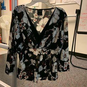 J.T.B Women's V neck 3/4 sleeve blouse